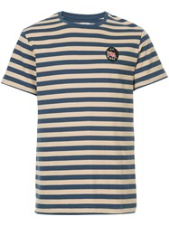 Kent And Curwen Striped T Shirt Blue