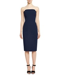 Jill Stuart Strapless Harlow Sheath Dress Navy