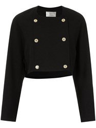 Lilly Sarti Button Up Coat Women Cotton 40 Black