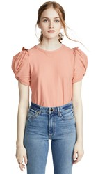 Moon River Ruched Tee Peach