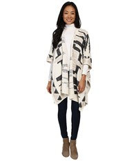 Lucky Brand Santa Fe Poncho Natural Multi Women's Coat