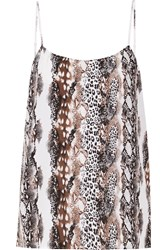 Equipment Cara Snake Print Washed Silk Tank Animal Print