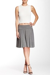 Max Studio High Twist A Line Skirt Gray