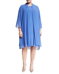 Marina Rinaldi Tempo Long Pleated Coat Women's Sky Blue