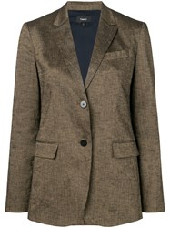 Theory Tailored Blazer Jacket Brown