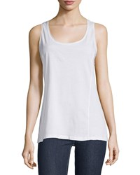Johnny Was Scoop Neck Knit Tank White Women's