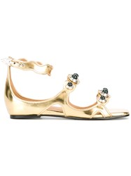 Toga Orb Embellished Sandals Metallic
