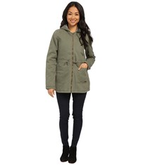Roxy Primo Parka Jacket Dusty Olive Women's Coat