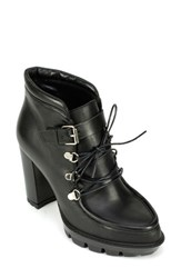Women's Summit By White Mountain 'Lacy' Ankle Bootie Black Leather