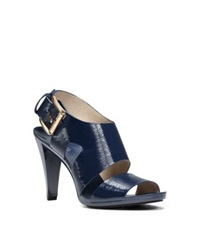 Michael Kors Carla Patent Leather Sandal Navy