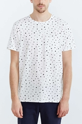 Bdg Ditzy Print Standard Fit Crew Neck Tee White