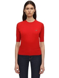 Vivienne Westwood Cotton Knit S S Sweater Red