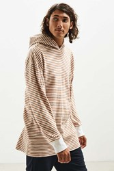 Urban Outfitters Uo Colin Thermal Hooded Long Sleeve Tee Neutral Multi