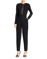 French Connection Petra Lace Inset Jumpsuit Black