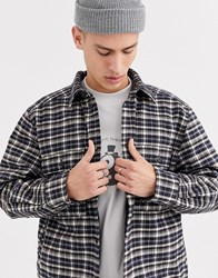 Weekday Chris Quilted Overshirt In Grey