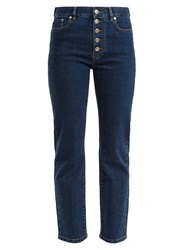Joseph Den Straight Leg Cropped Jeans Dark Blue