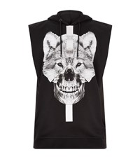 Marcelo Burlon Moises Sleeveless Hoodie Male Black