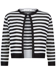Damsel In A Dress Stripe Cardigan Black White