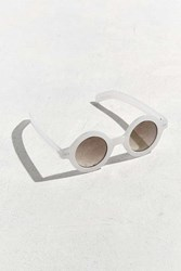 Urban Outfitters Chunky Plastic True Round Sunglasses White