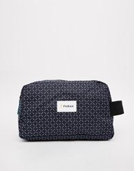Farah Printed Wash Bag Navy