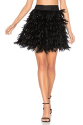Alice Olivia Cina Feather Mini Skirt Black