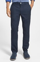 Men's Big And Tall Bonobos 'Cappu Chinos' Tailored Fit Washed Cotton Chinos Jet Blues