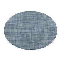 Chilewich Mini Basketweave Oval Placemat Chambray