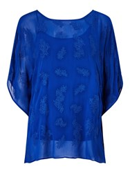 Phase Eight Guilia Embriodered Tunic Cobalt