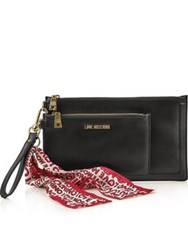 Love Moschino Scarf Clutch With Pouch Black