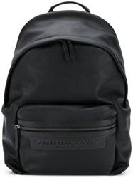 Stella Mccartney Embossed Falabella Backpack Black