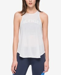 Tommy Hilfiger Sport Graphic Racerback Tank Top A Macy's Exclusive Style White
