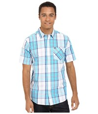 Hurley Carson Short Sleeve Woven Beta Blue Men's Short Sleeve Button Up Pink