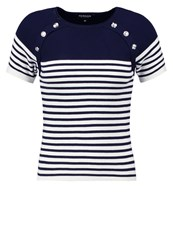 Morgan Print Tshirt Nuit Dark Blue