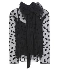 Marc Jacobs Polka Dot Tulle Blouse Black