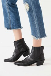 Urban Outfitters Tina Western Ankle Boot Black