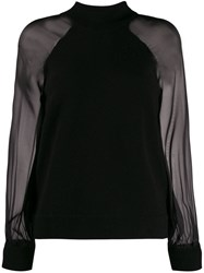 Federica Tosi Sheer Sleeve Jumper Black