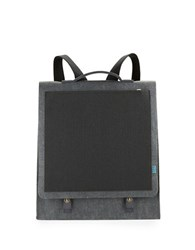 M R K T Mateo Felt And Faux Suede Backpack Charcoal