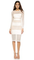 Ali And Jay Ponte Panelled Dress Creme