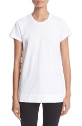 N21 Women's N 21 Zipper Detail Chiffon Back Tee White