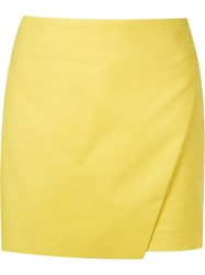 Giuliana Romanno Wrap Skort Yellow And Orange