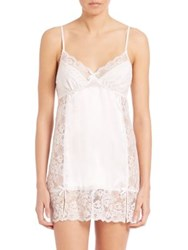 In Bloom Lace Inset Satin Chemise Ivory