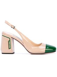 Prada Slingback Pumps Neutrals
