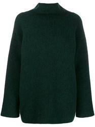 Jacquemus Ribbed Turtle Neck Jumper Green
