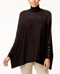 Alfani Petite Turtleneck Poncho Created For Macy's Deep Black