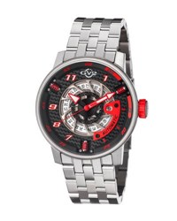 Gv2 48Mm Men's Motorcycle Sport Automatic Bracelet Watch Black
