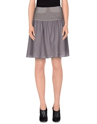 Noa Noa Knee Length Skirts Grey