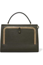 Anya Hindmarch Postbox Textured Leather Tote Army Green