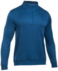 Under Armour Men's Quarter Zip Storm Fleece Sweater Heron Blue
