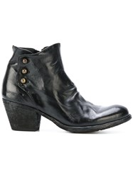 Officine Creative Giselle Ankle Boots Women Calf Leather Leather Rubber 37 Black