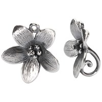 Trollbeads Sterling Silver Anemone Drop Earrings Silver